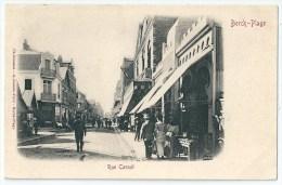 Cpa: 62 BERCK PLAGE (ar. Montreuil) Rue Carnot (animée, Magasins, Pécurseur) - Berck