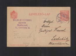 Hungary Stationery Error 1913 - Ganzsachen