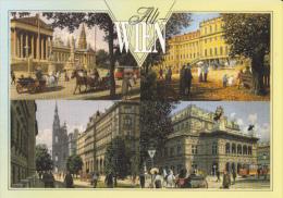 CPA VIENNA- SCHONBRUNN PALACE, CITY HALL, OPERA HOUSE, PARLIAMENT, TRAM, TRAMWAY - Château De Schönbrunn