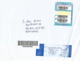 Israel 2013 Kiryat Haim Post Office Meter Franking EMA Barcoded Registered Cover - Frankeervignetten (Frama)