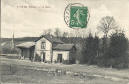 LIOMER (Somme) : La Gare - TBE - Francia