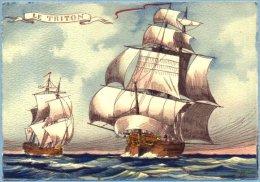 CPSM - BARRE & DAYEZ - Voiliers Célèbres - 1161 D - Le Triton - Zeilboten