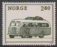 "Norway Norge Norwegen 1980 Mi 819 ** Motor Coach (1940) / Linienautobus / Lijnbus – Int. Stamp Exhib. ""NORWEX '80"", Oslo - Bussen"