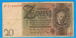 ALEMANIA - GERMANY -  20 Reichmark 1929 MBC  P-181 - [ 3] 1918-1933 : República De Weimar