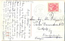 _Cc608:N°60: SASVANGENT 23.IX.19 > BLANKENBERGHE  Op Prentkaart: HOLLAND - 1891-1948 (Wilhelmine)