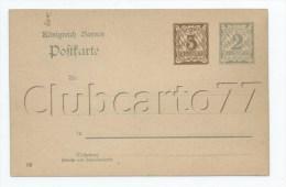 Jolie CP Ancienne Entier Postal Königreich Allemagne Bayern Bavière 2 Et 3 Pfennig Neuf - Bavière