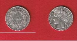 1 Franc  1872 PETIT A  //   Etat TTB+ // - Francia