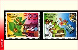 Rwanda 0917/18 SG Philexafrique II   Without Gum - Rwanda