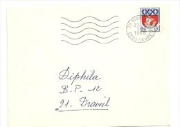 DEUX SEVRES - Dépt N° 79 = NIORT GARE 1968 = FLAMME Codée = SECAP Muette '5 Lignes Ondulées' - Postmark Collection (Covers)