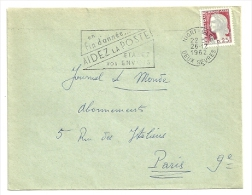 DEUX SEVRES - Dépt N° 79 = NIORT GARE 1962 = FLAMME Non Codée = SECAP ' AIDEZ LA POSTE / ETALEZ VOS ENVOIS ' - Postmark Collection (Covers)