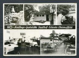 """HO-Ausflugs-Gaststätte """"Saathof-Schenke"""" Obermaßfeld - N. Gel. - DDR - / S 36   Foto-Rös'chen Themar/Thür. - Schmalkalden"""