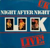 * LP *  UK - LIVE!  - NIGHT AFTER NIGHT (Holland 1979) - Rock