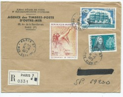 (1) Enveloppe Avec TIMBRES (CHARLES Le BRUN,5 Mâts FRANCE II)(oblitération 1975 ) - France