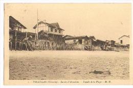 CPA - PIRAILLAN (Gironde) - Bassin D'Arcachon Façade De La Plage -  M.D. - A Circulé - 1938 - - Non Classificati