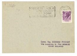 """273/500 - REPUBBLICA , Annullo Targhetta """" IMOLA ANNIVERSARIO LIBERAZIONE..  """" 1970 - 6. 1946-.. Repubblica"""