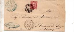 1882 LETTERA CON ANNULLO  PORTOCANNONE CAMPOBASSO - 1878-00 Humbert I