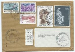 (8) Enveloppe Avec TIMBRES  (Aéroport BALE MULHOUSE, Eclairage Public GRENOBLE, AIX En PROVENCE,EPHEBE D´AGDE,BOYAN ) - France