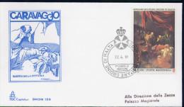 SMOM - 1991 FDC CARAVAGGIO (2485) - Malte (Ordre De)