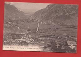 CVS-10 Martigny La Dranse, Le Rhône Et Les Follatères. Cachet Martigny 1913 Vers Grabs. Jullien 9049 - VS Valais