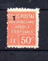 Colis Postaux  N°  57 *  , Curiosité De Surcharge Pour Spécialistes - Parcel Post