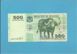 500 SHILINGI - ND ( 2003 ) - UNC. - P 35 - Sign. 14 - Serie AD - BENKI KUU YA TANZANIA - Tanzanie