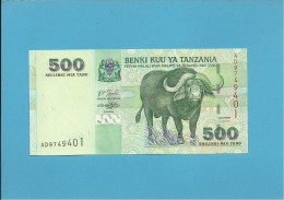 500 SHILINGI - ND ( 2003 ) - UNC. - P 35 - Sign. 14 - Serie AD - BENKI KUU YA TANZANIA - Tanzania