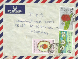 Gambia 1982 Banjul Royal Wedding Princess Diana Flowers Cover - Gambia (1965-...)