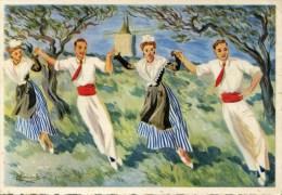 LA FARANDOLE Région D'ARLES   En Parcourant La Provence  1953 - Tänze