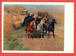 141514 / Russia Art  Mitrofan Borisovich Grekov  - Prisoner, Captives By The Russian RED Army HORSE - Russie - Gevangenis