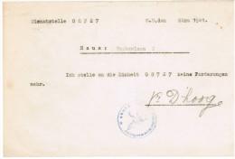 Document Standortcommandatur  De Panne, Duitse Stempel WW2  Hakenkruis Adelaar - Historische Documenten