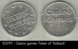 EGYPT - Casino Games Token Of 'Dolbeck' - Casino