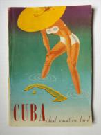 PLAQUETTE - CUBA IDEAL VACATION LAND TOURIST  - 1951/ 52 - 96 PAGES - NOMBREUSES PHOTOGRAPHIES NOIR ET BLANC - CARTE - Esplorazioni/Viaggi