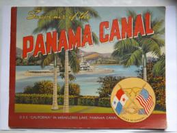 PLAQUETTE - SOUVENIR OF THE PANAMA CANAL - 1941 - 32 PAGES - NOMBREUSES PHOTOGRAPHIES NOIR ET BLANC - PLAN - Esplorazioni/Viaggi