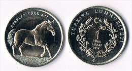 TURKEY  1 Lira 2014- Horse-bimetal - Turchia