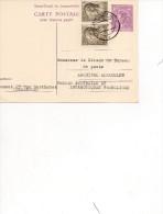 TAAF Kerguelen Carte/ Lettre  Du Luxembourg Pour Kerguelen  1968 - Bases Antarctiques
