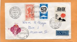 Brazil 1967 Cover Mailed To USA - Storia Postale