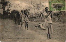 CONGO  BELGE      2 CP   Enterrement D'un Travailleur         Boy Région Des Cataractes - Congo Belge - Autres
