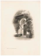 Photo ( +/- 23 X 32 Cm) ALGER - Porte De La Villa Mustapha Raïss- Photogravure Gervais-Courtellemont & Cie (Fr 13) - Reproductions