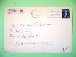 USA 1982 Cover Hicksville To Czechoslovakia - Thomas Paine - Stati Uniti
