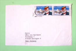 USA 1989 Front Cover To Germany - Plane Samuel Langley Aviation Pioneer - United States