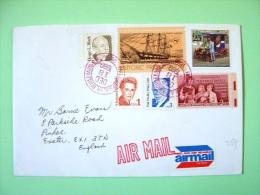 USA 1989 Cover Philadelphia To England - Car Ship Teachers Book Hugo Black Margaret Mitchell Paul Dudley White - Tube... - Lettres & Documents