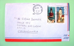 USA 1990 Cover Kalamazoo To Czechoslovakia - Lighthouses - United States