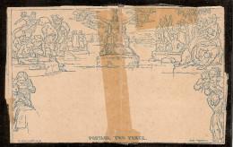 Grande-Bretagne (GB) 1840 - 2p Bleu Mulready Neuve Mais Réparée (voir Scan) - 1840 Enveloppes Mulready
