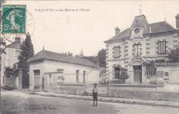 22540 VILLETTE - LA MAIRIE ET L'ECOLE  -Clic Et Bertrand, Mantes -enfant - France
