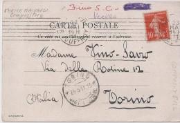 CR-083/13 PARIS - AUTOGRAFA Compositore ENRICO MAINARDI -VG.x Cantante CHIARINA FINO SAVIO Di TORINO A. 1911 - Chanteurs & Musiciens