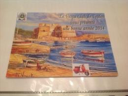 Club Vespa De Toulon  En Carton Publicitaire - Toulon