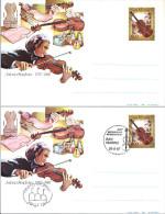 1987 Antonio Stradivari Busta Intero Postale - Due Buste Nuova E Fdc - Postwaardestukken