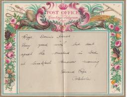 -> Télégramme De Grande Bretagne : Musique Tambourin Flute De Pan, RAISIN Abricot Blé Rose - Wein & Alkohol
