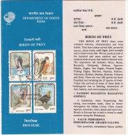 Stamped Information On Birds Of Prey, Eagle. Vulture, Osprey, Falcon. Bird, India 1992 - Eagles & Birds Of Prey