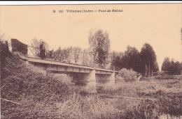 22554 Villedieu Pont De Mehun  -M333 ( Coll G G &F, Chateauroux ?) -femme Enfant Pont - France